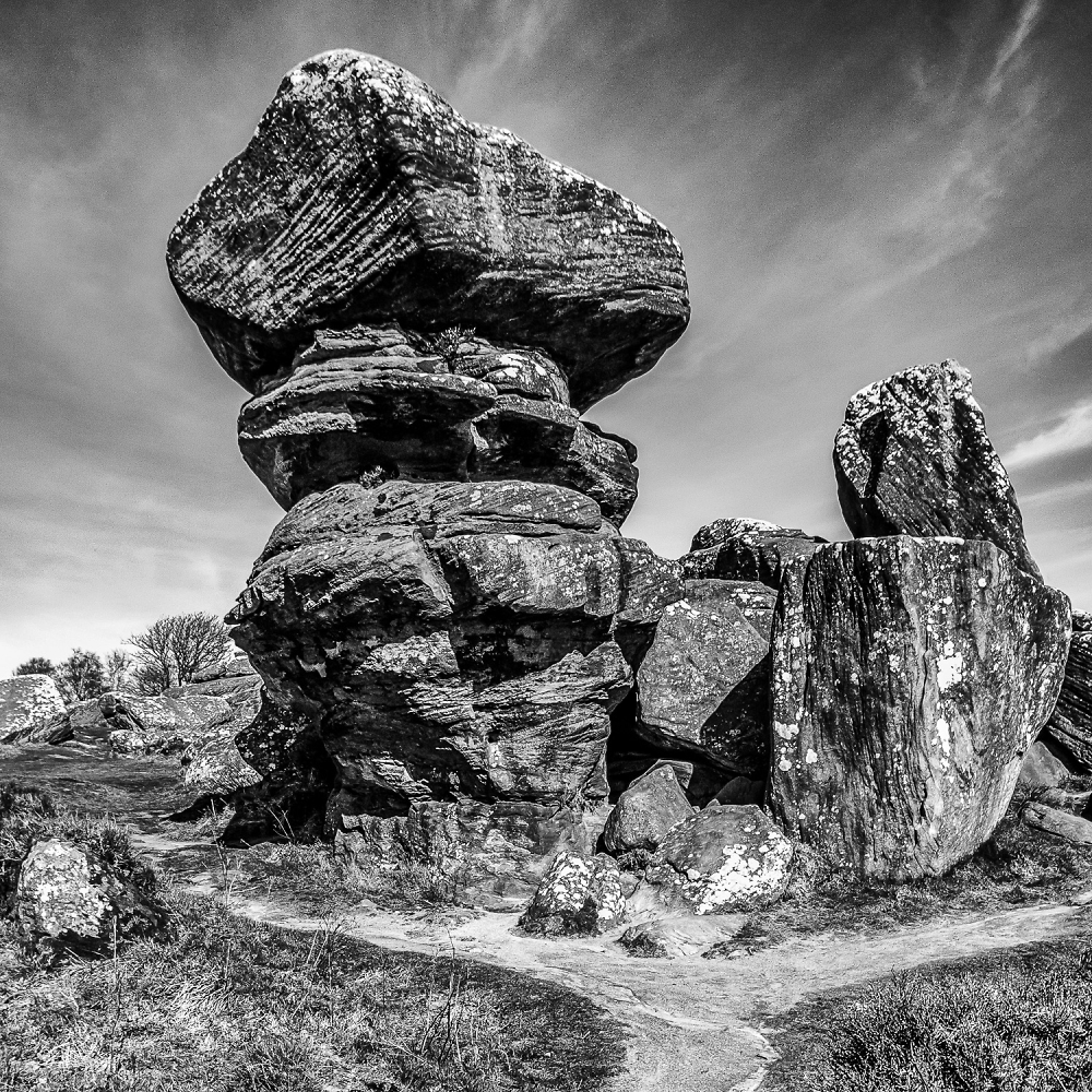 Rock Formation at Brimham Rocks.