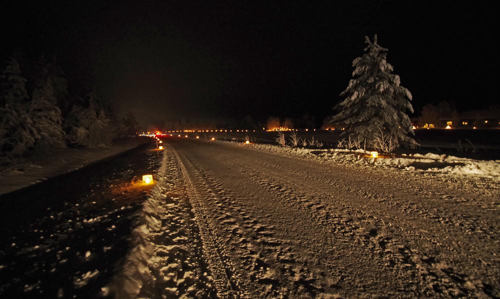 Twelfth Night ice lanterns in Paakki