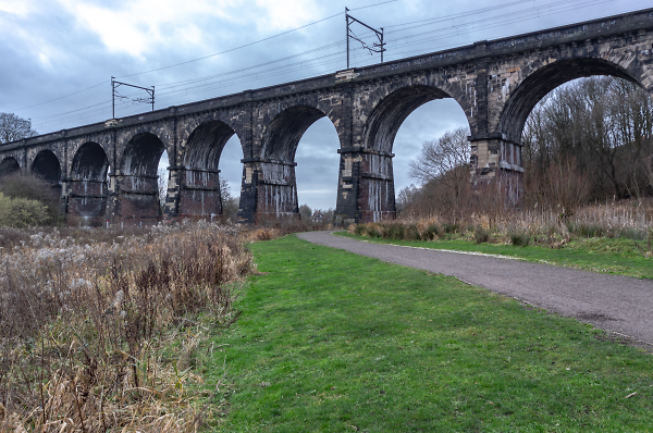 The Nine Arches viaduct, Earlestown, Newton-le-Willows