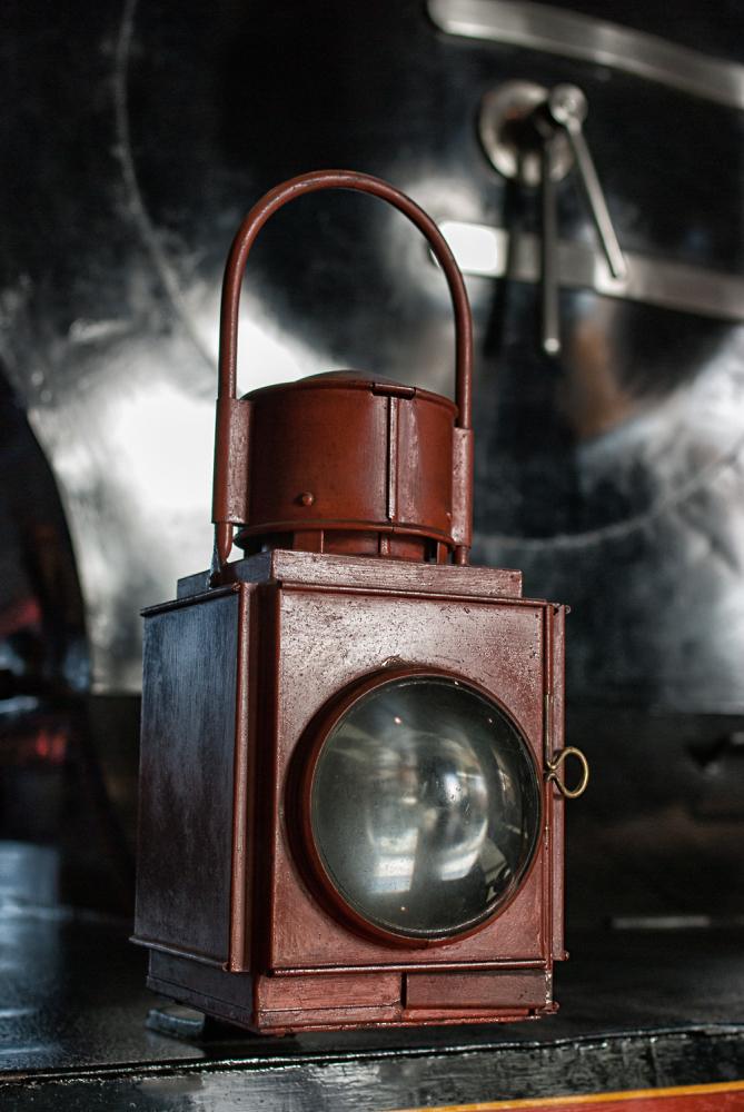 Locomotive headlamp.