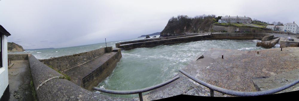 Charlestown looking out, fish eye