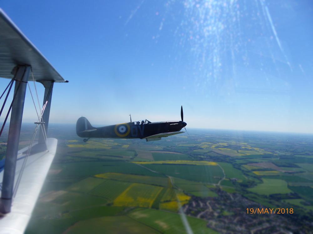 Aerial Shot Of Spitfire