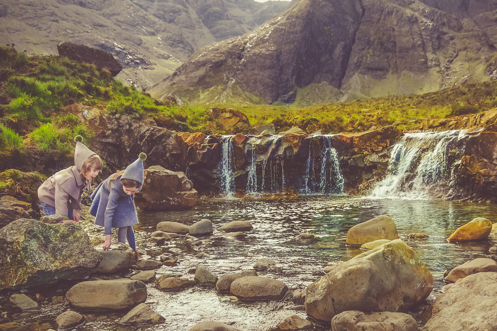 Playing in the Fairy Pools