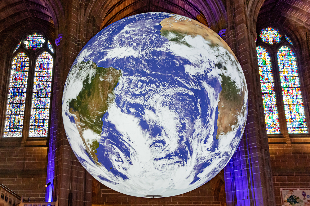 Gaia Earth simulation event at Liverpool Anglican Cathedral June 2019