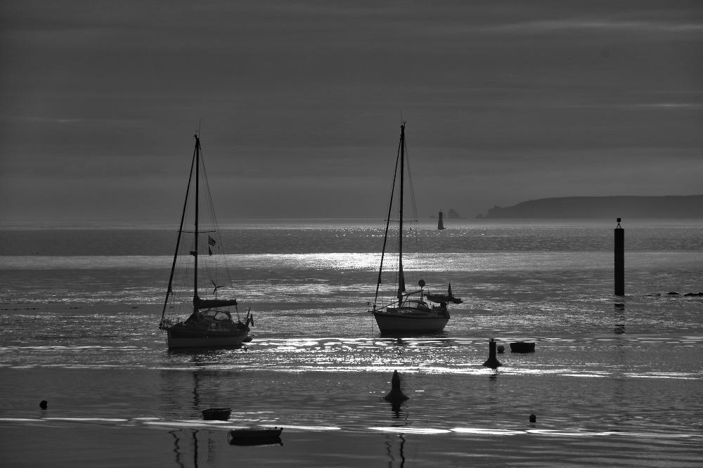 Early morning - B&W