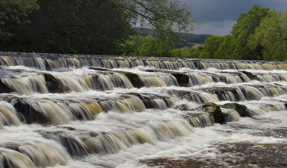 Weir at Burley in Wharfedale.
