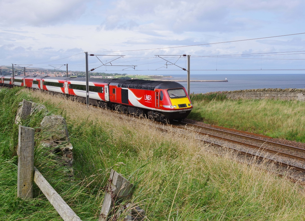 Train on Northumberland Coast
