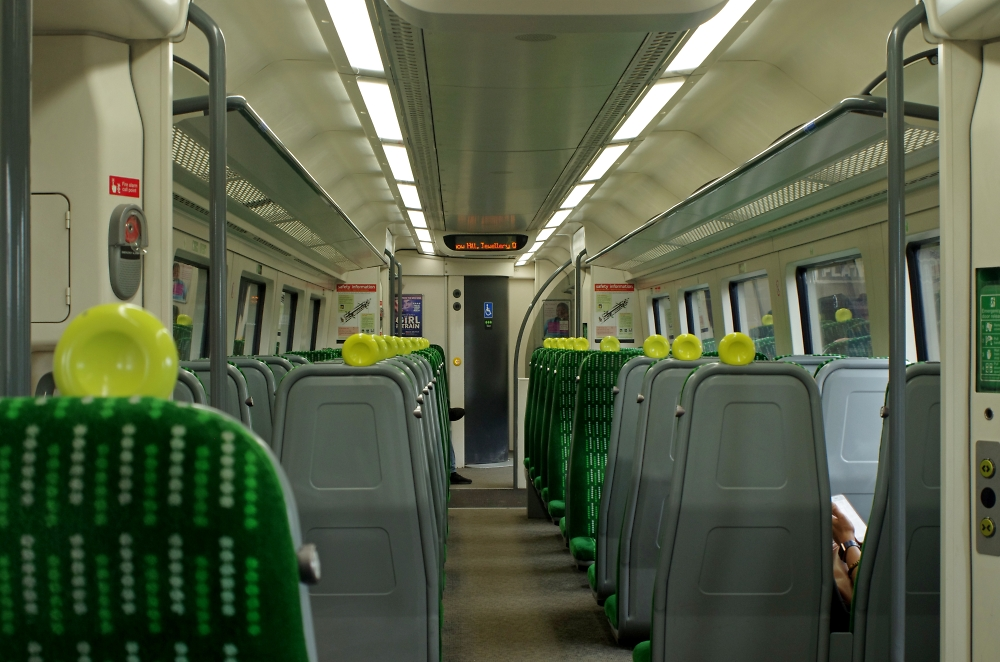 An almost empty carriage