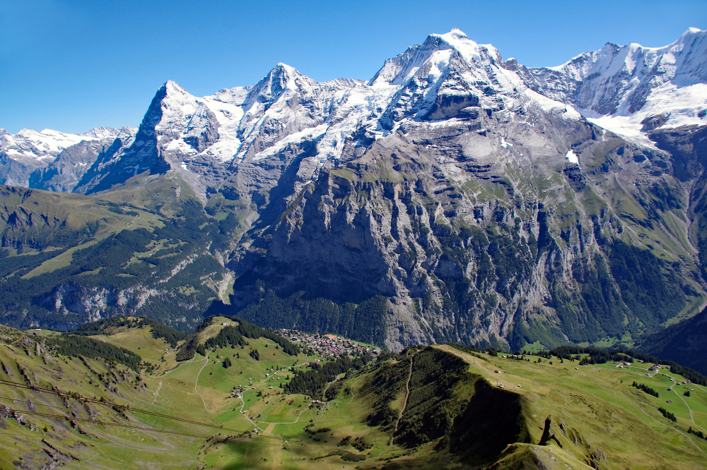Eiger, Monch & Jungfrau from the Shilthorn