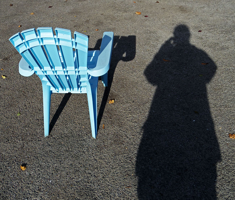 Selfie, with chair