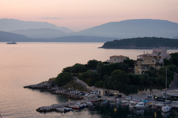 Kassiopi Harbour at Dawn