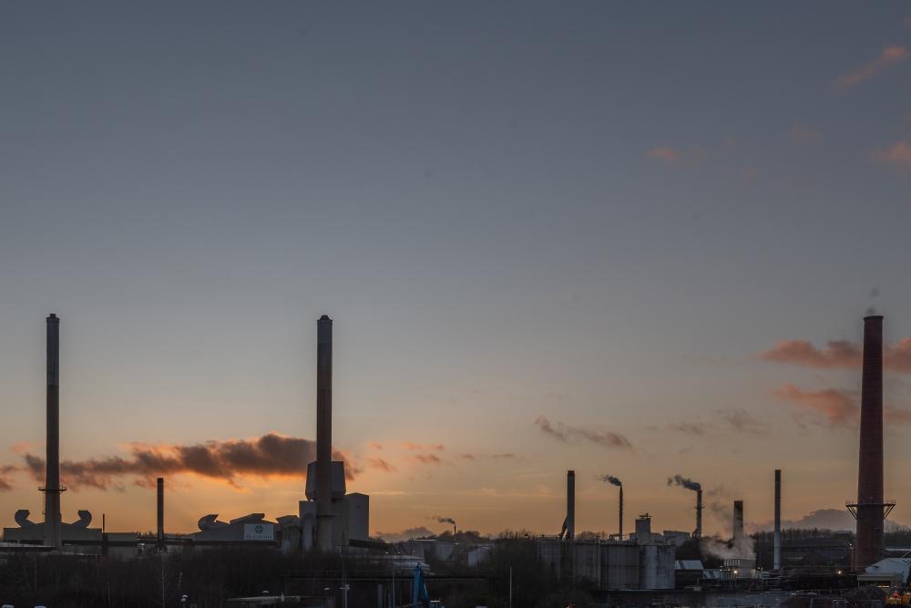 St Helens. Ravenhead sunset