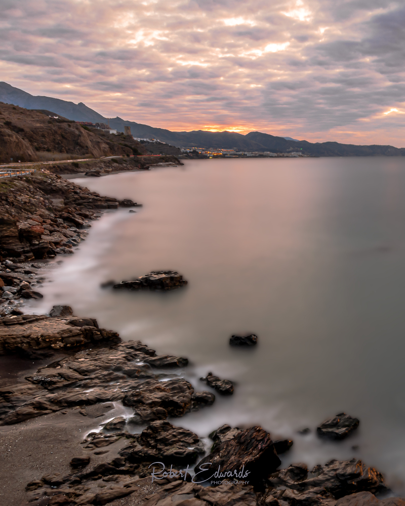 Sunrise over Nerja (Malaga) Spain
