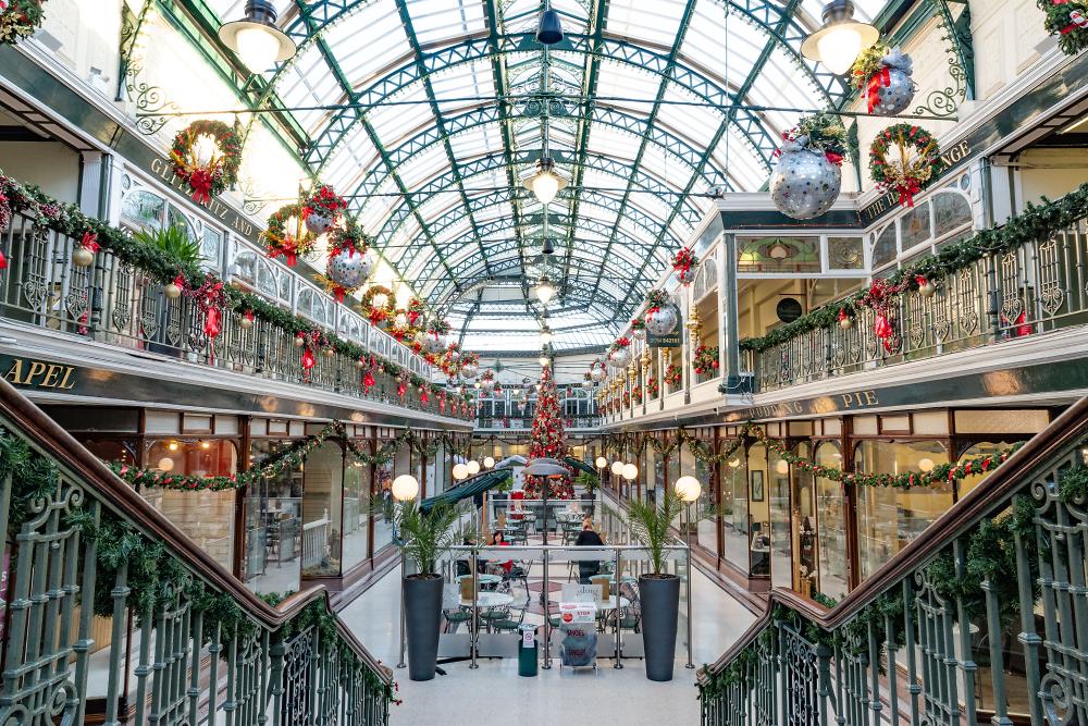 Wayfarers Arcade Southport Merseyside at Christmas