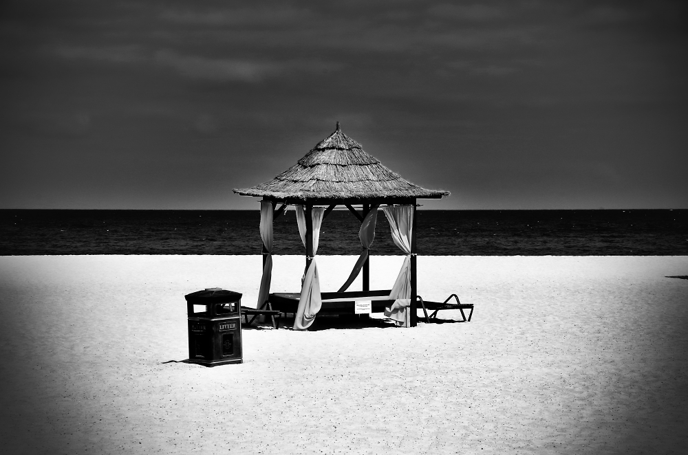 A place in black and white.