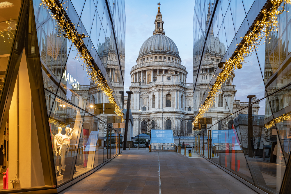 St Paul's Cathedral, London from One New Change