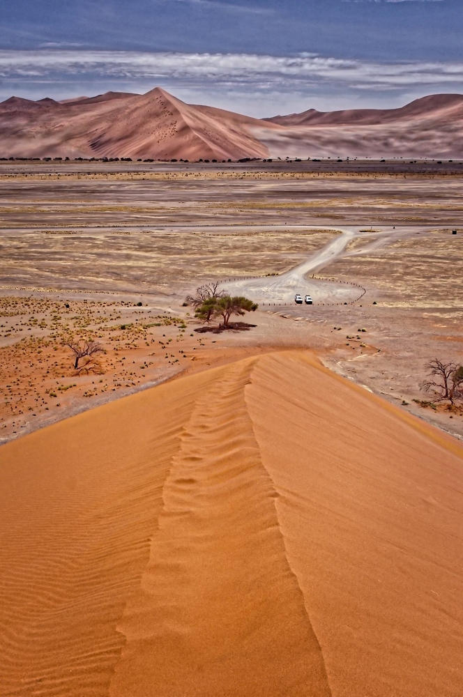Namibia and from half-way up the dune