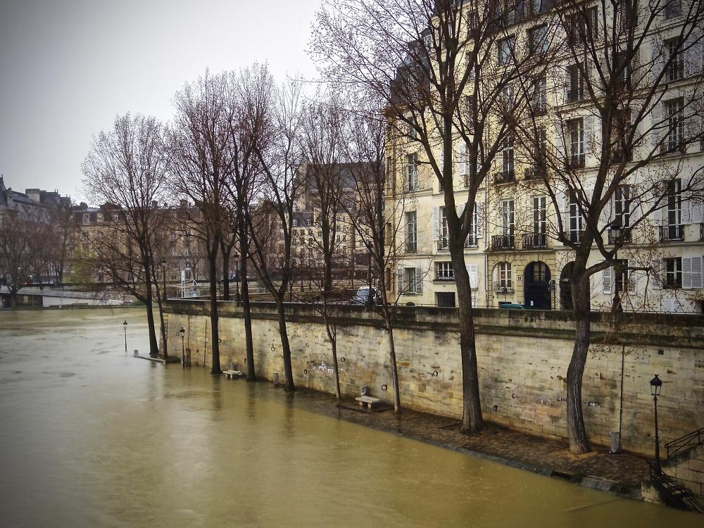Silent high water in Paris.
