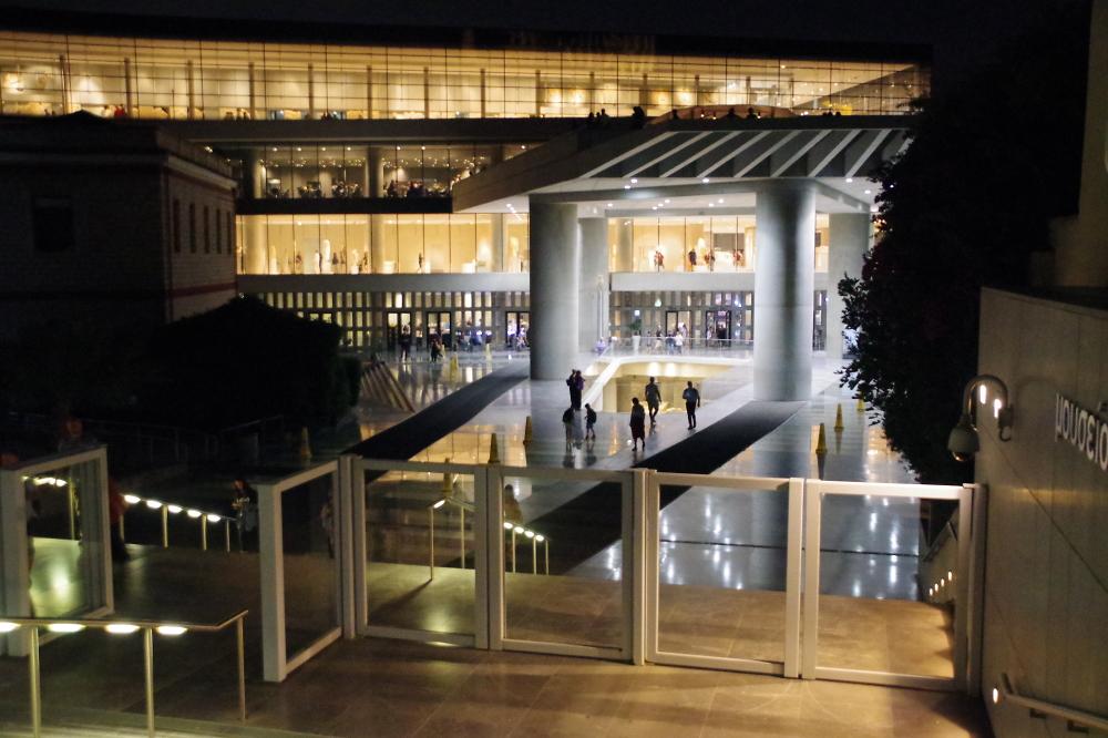 Acropolis Museum at night