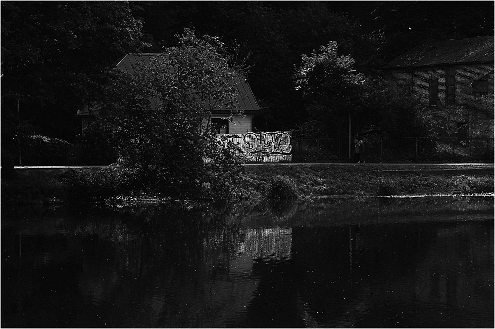 House by the river.