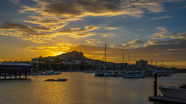The Sun Sets Over Townsville Harbour