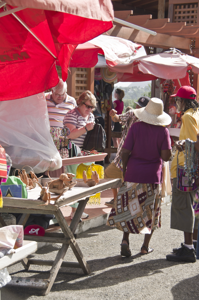 Life in the St. Market St. Lucia.