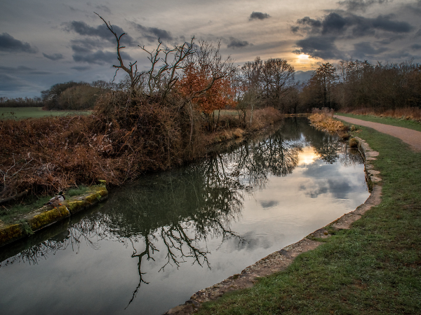 Twilight on Chesterfield Canal