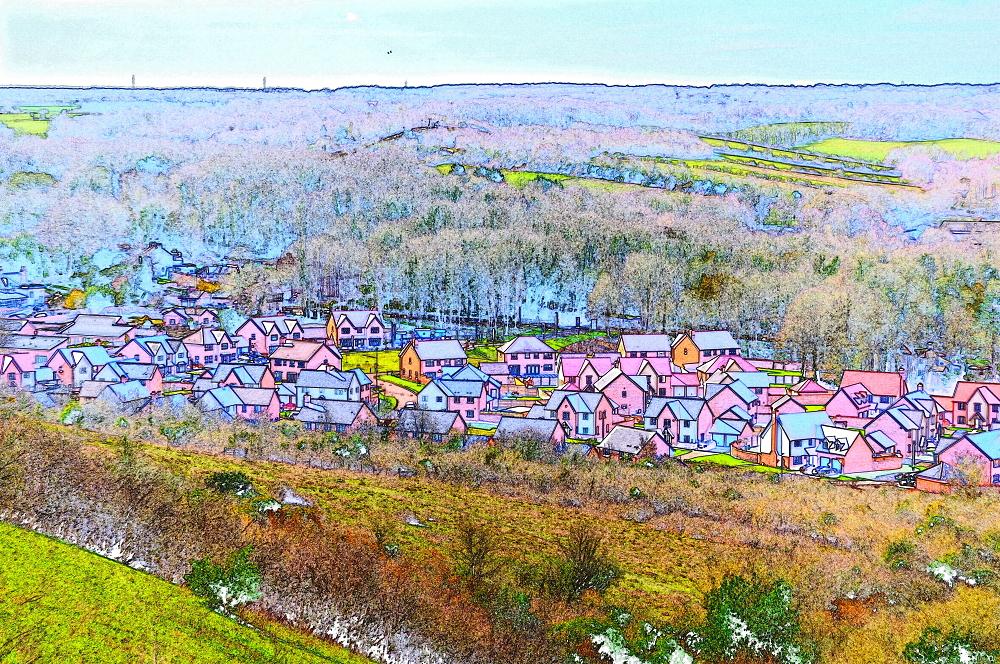Suburban sprawl.