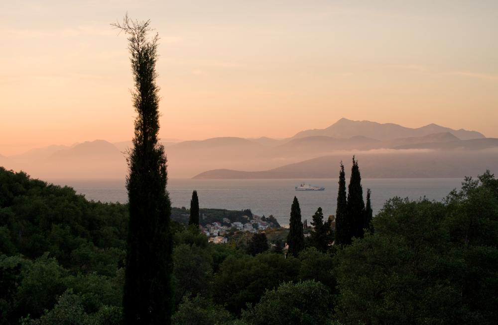 Sunset over Kassiopi