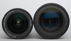 Pentax 16-45mm and 16-50mm fronts compared