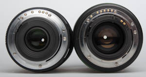 Pentax 16-45mm and 16-50mm mounts compared