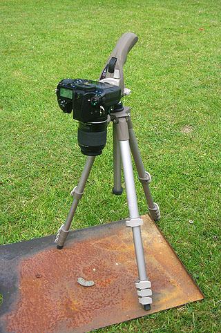 Pentax SLR viewfinder uncovered