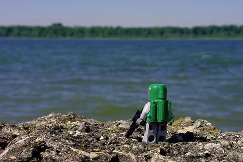 Lego photography Boba Fett on Naboo