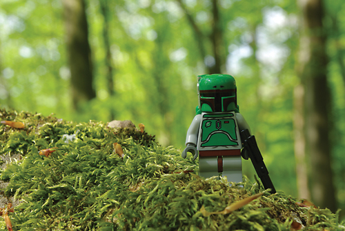 Lego photography Boba Fett visiting Endor