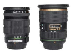 Pentax 16-45mm and 16-50mm side by side