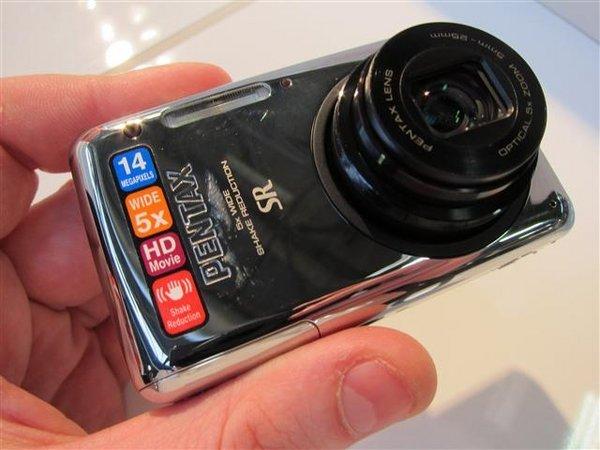 Pentax Optio S1 Chrome 5x stabilised zoom lens