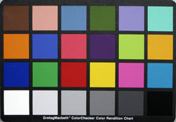 The colour chart