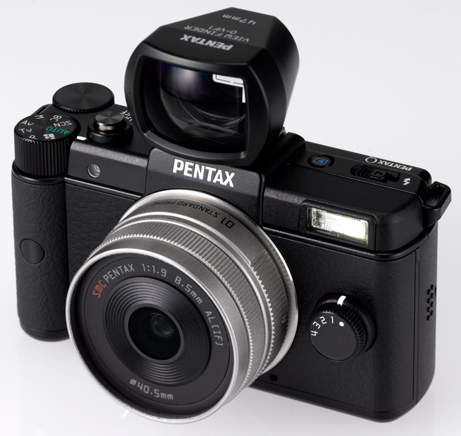 Pentax Q System with Viewfinder