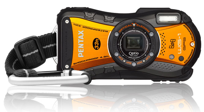 Pentax Optio WG1-GPS Shiny Orange Digital Compact Camera