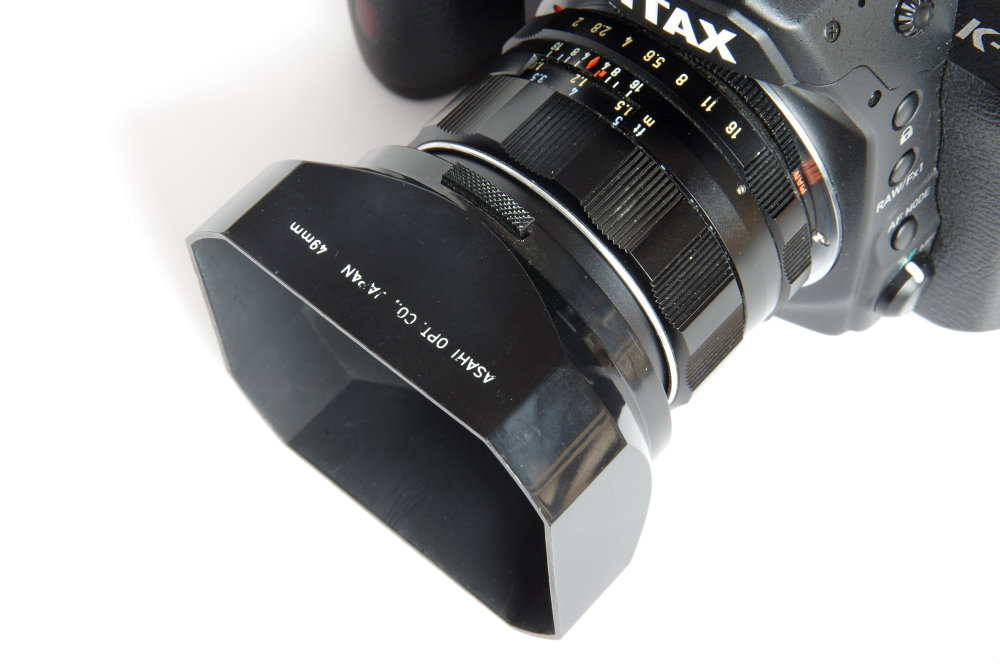 Super Takumar 55mm F2 With Clip On Hood On Pentax K1