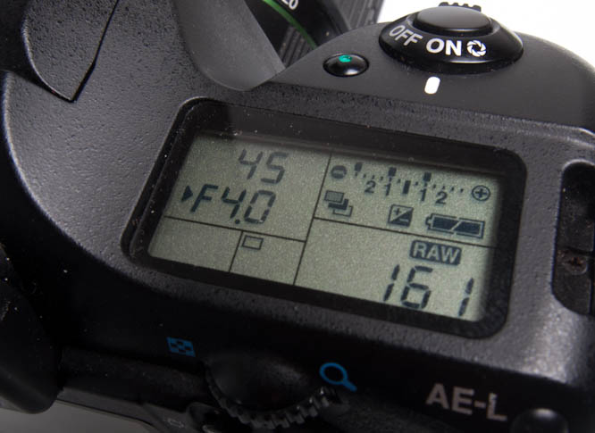 Pentax K20D scale for auto-bracketing