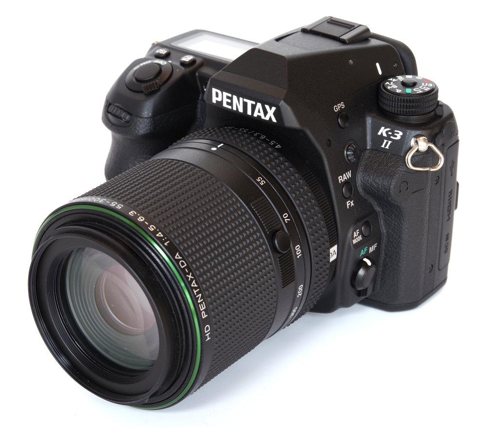 Hd Pentax 55 300mm Ed Plm Wr Re On K3ii Body With Lens Locked