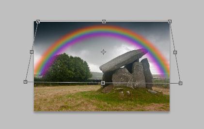 Transform the rainbow layer