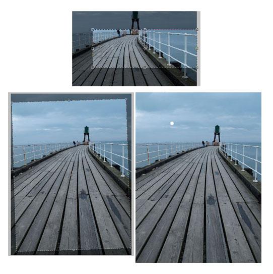 How to straighten the horizon