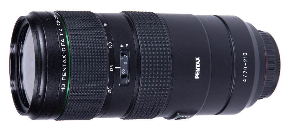 Pentax 70 210mm F4 Vertical View Side