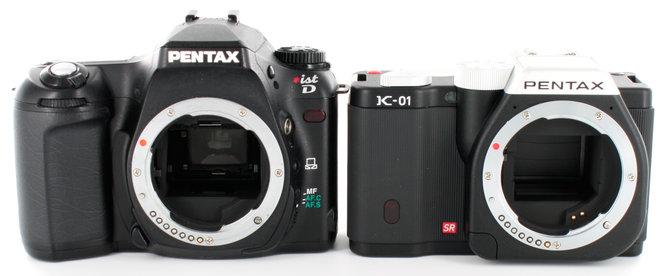 Pentax K-01 IstD DSLR Front 2
