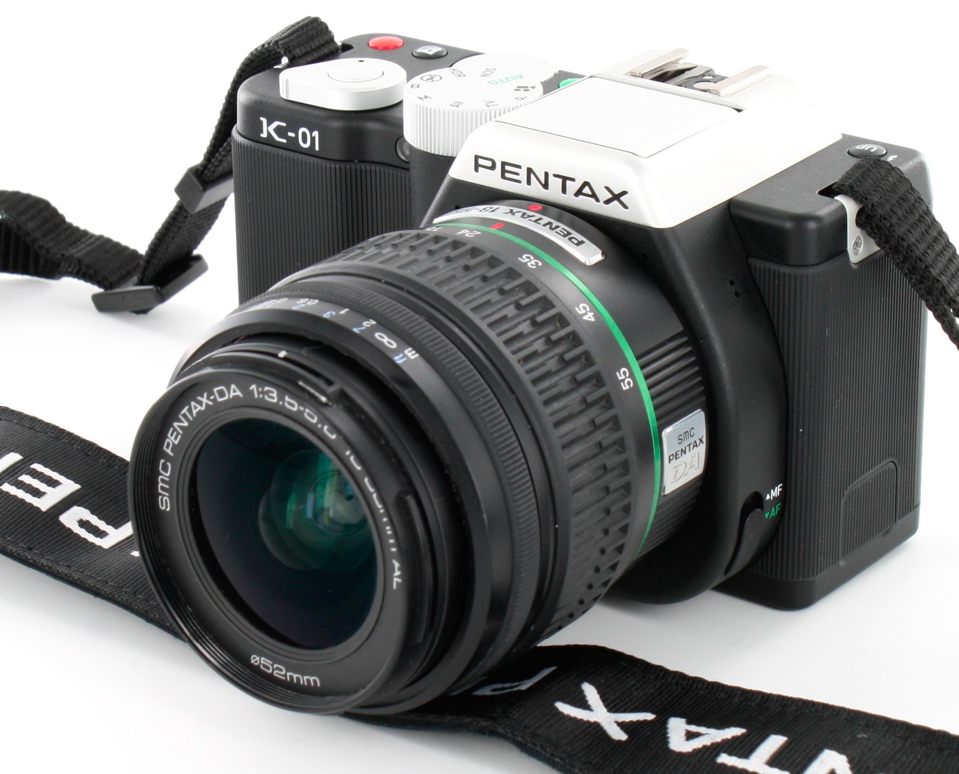 Pentax K-01 vs Pentax *ist D DSLR Size Comparison