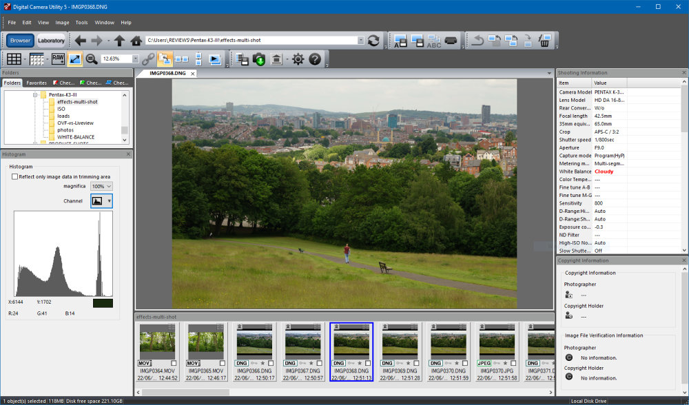 Pentax K 3 III Silkypix Digital Camera Utility 5