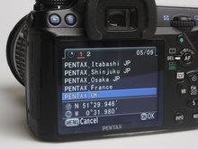Pentax O-GPS1 Preset Destinations