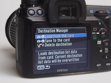 Pentax O-GPS1 destination manager
